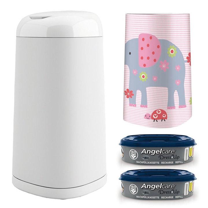 angelcare dress up starter set windeleimer 2 nachf llkassette bezug nach wahl ebay. Black Bedroom Furniture Sets. Home Design Ideas
