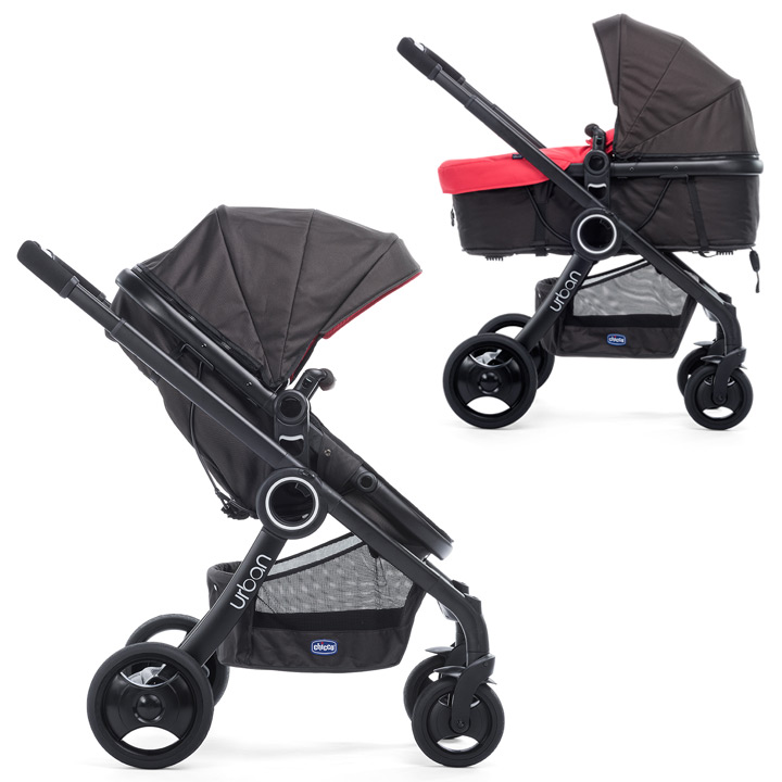 chicco urban plus crossover convertible stroller black chassis inkl color kit. Black Bedroom Furniture Sets. Home Design Ideas
