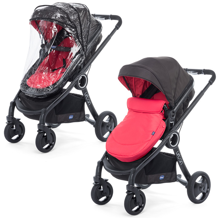 chicco urban plus crossover convertible stroller black chassis inkl color kit ebay. Black Bedroom Furniture Sets. Home Design Ideas