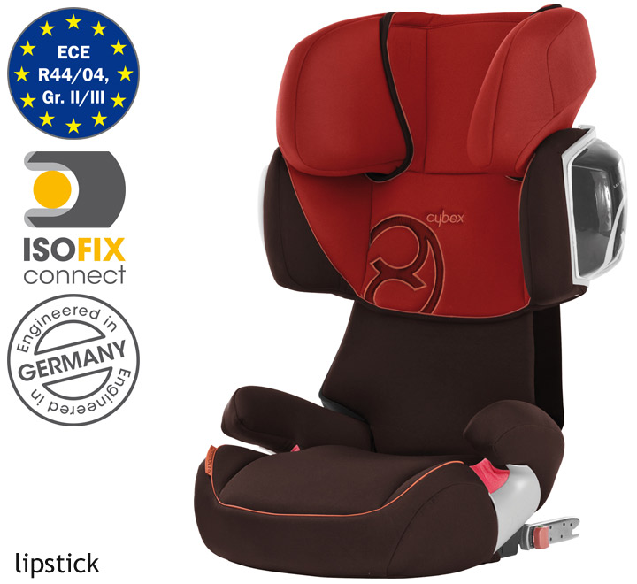 cybex siege auto solution x2 fix isofix lipstick ebay. Black Bedroom Furniture Sets. Home Design Ideas