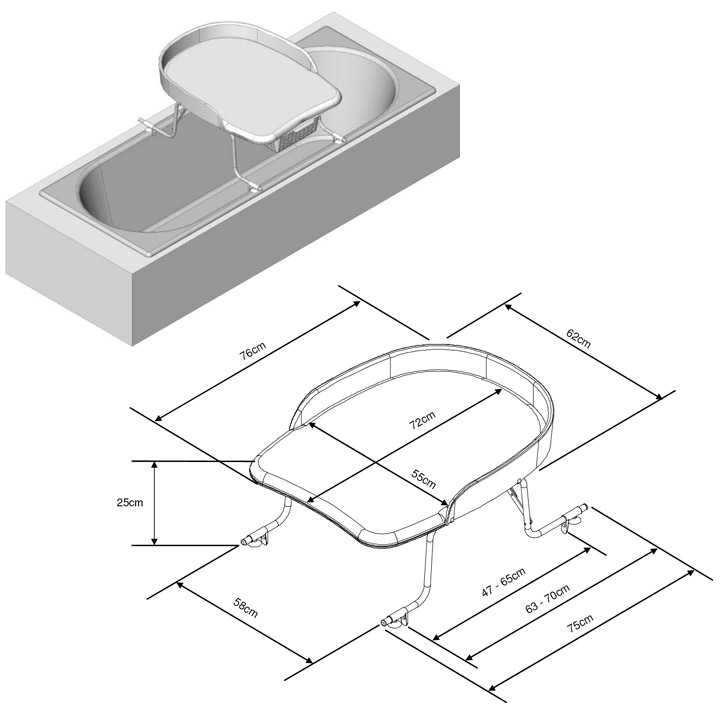 geuther wickelaufsatz f badewannen wickeltisch 4812 dess. Black Bedroom Furniture Sets. Home Design Ideas
