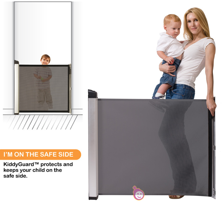 LASCAL KiddyGuard Avant Black Security Safety Child Kid Toddler Gate ...